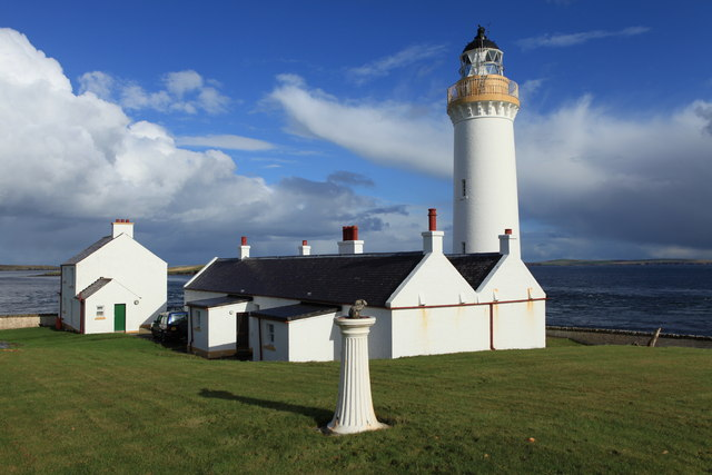 Cantick Head Lighthouse and cottages
