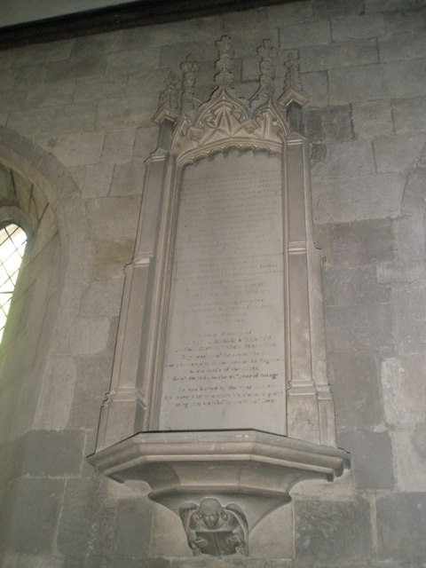 Memorial near the altar at St Paul's, Elsted