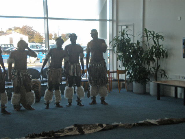 Zulus in Inverness Airport lounge