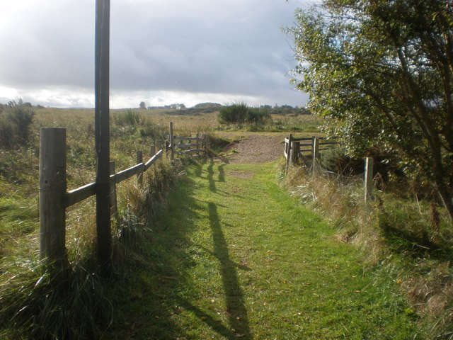 Start of links footpath to Dornoch