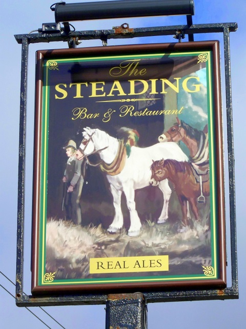 Sign for the Steading