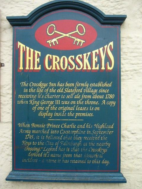 Crosskeys Inn information board