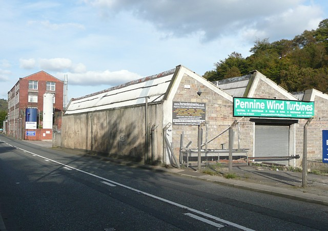 Wind turbine shop, Halifax Road, Stansfield