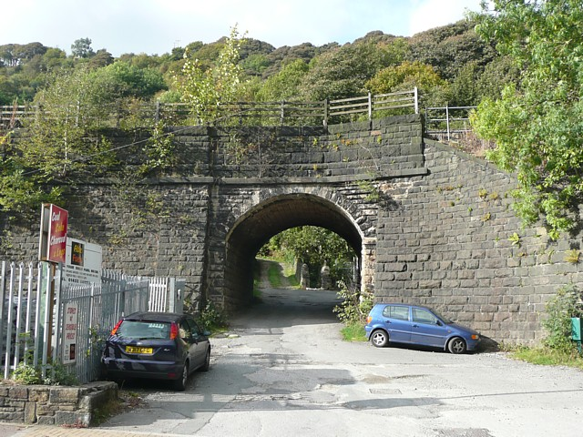 Stony Lane railway bridge, Charlestown, Hebden Bridge