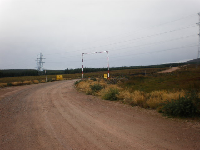Power lines crossing Entrance to Wind Farm Road