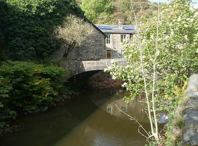 Woodland View footbridge, Charlestown, Hebden Bridge