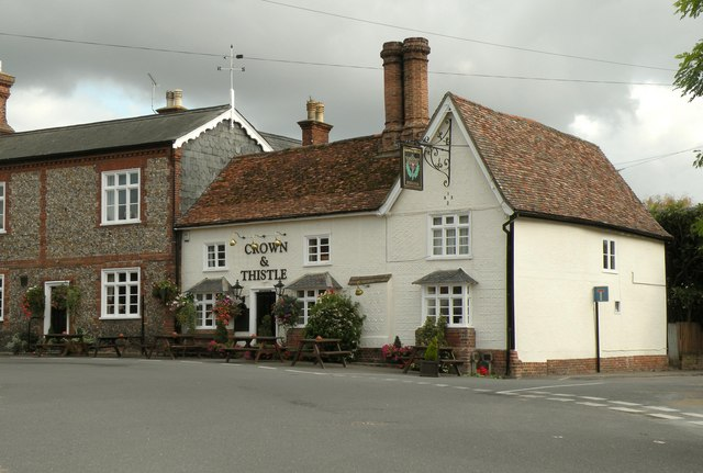 'Crown & Thistle' public house at Great Chesterford