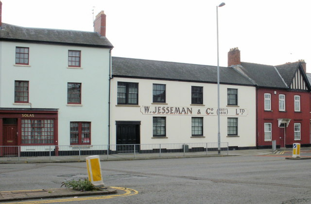 Restored former Jesseman premises, Newport