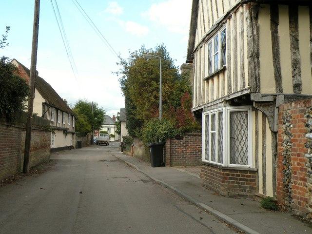 Manor Lane, looking northwest