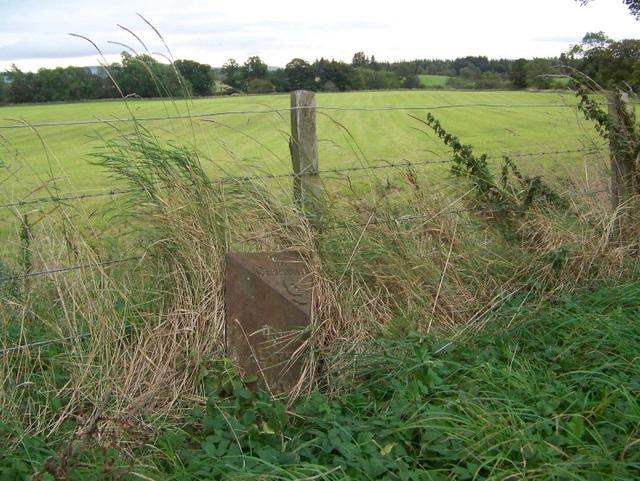 Milepost near Alyth