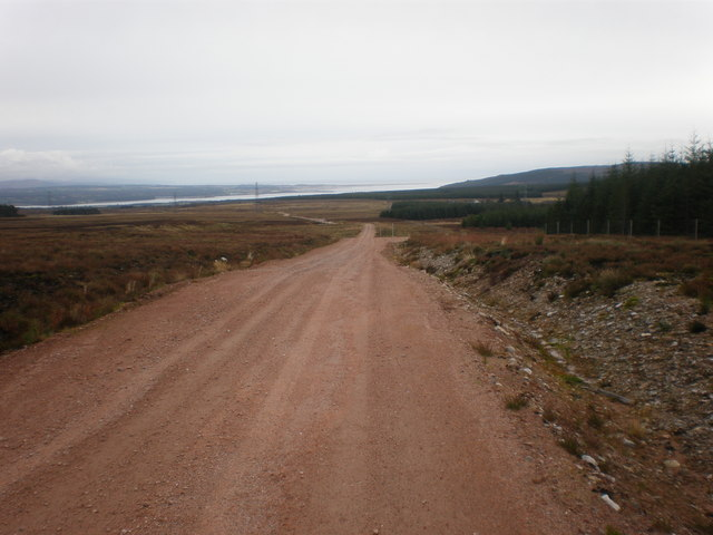 Wind Farm road going down to B9176