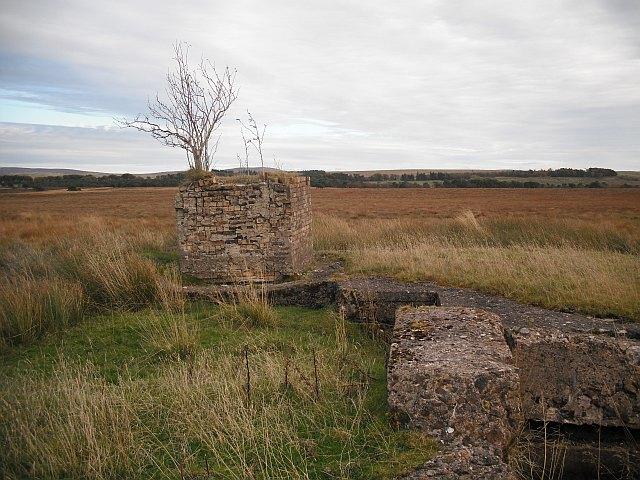 Mine building ruins near Tarbrax