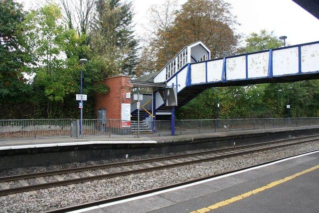 End of the footbridge