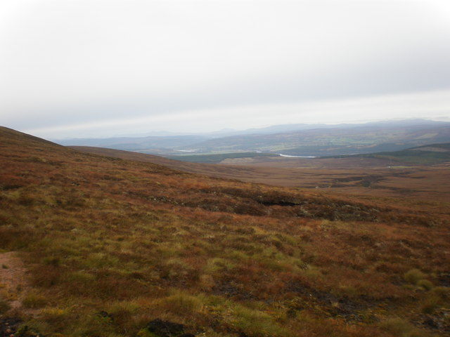 Looking north from Beinn nan Oighrean eastern slopes