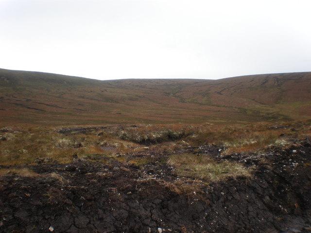 Caochan na Ba Leithe coming down Moorland