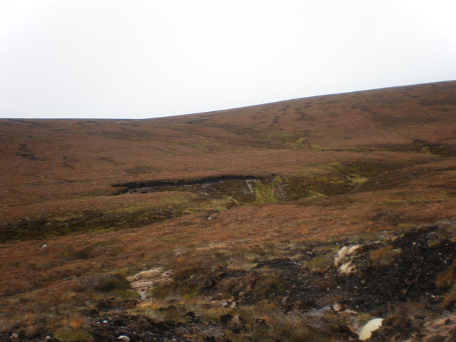 Tributary coming down to join Allt Mor by new wind turbines