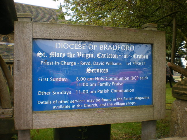 St Mary the Virgin, Carleton-in-Craven, Sign