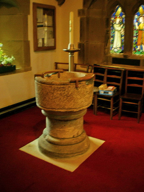 St Mary the Virgin, Carleton-in-Craven, Font