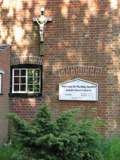 Sign for the Catholic church, Eythorne