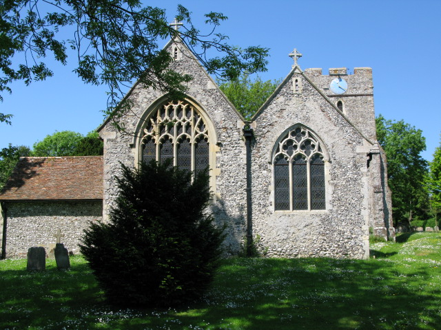 The eastern end of St Peter and St Paul's church, Eythorne