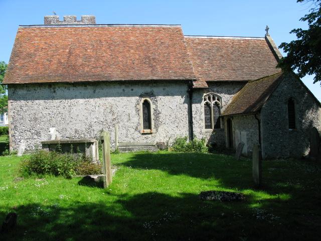 The rear of Eythorne church