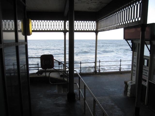 Rough seas below the Cliff Lift