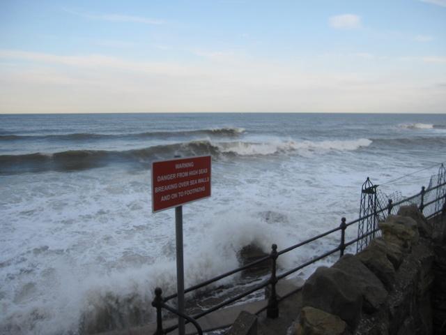 Warning sign at South Bay