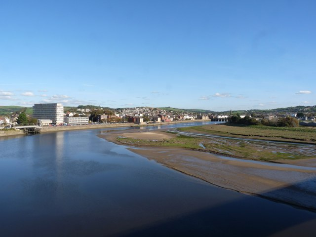 Barnstaple and the river Taw