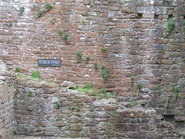 Visitors are forbidden to climb on the walls