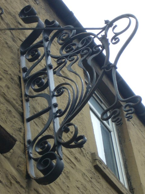 Wrought iron shop sign, Leven Street
