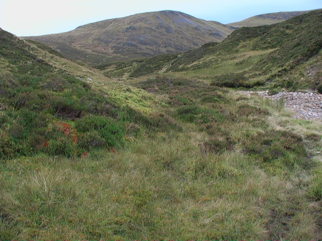 Looking south up the course of the Allt Glas Choire
