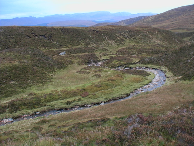 Course of the Allt Glas Choire looking to the land north of  Rannoch