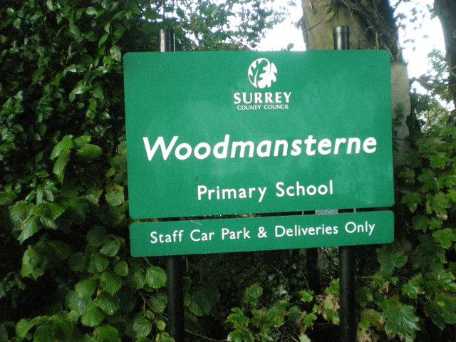 Woodmansterne Primary School sign