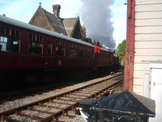 LMS 8624 , Darley Dale Station