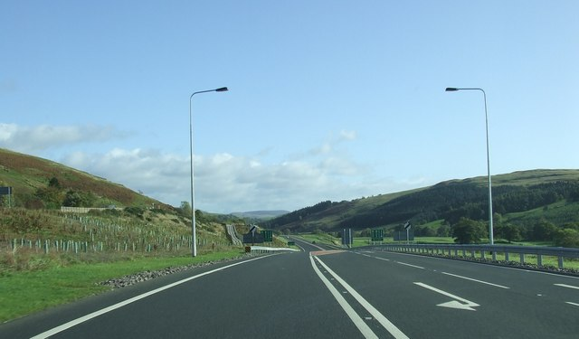 New part of A76 South of Mennock