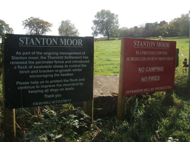 Stanton Moor, notices