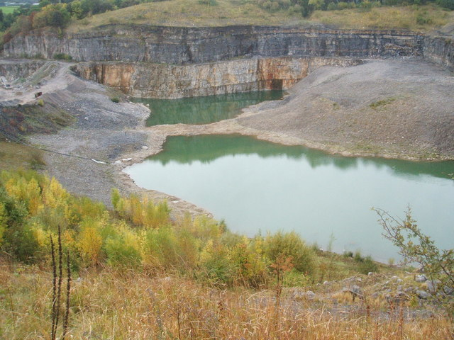 Nature reclaiming Shiningbank Quarry
