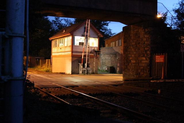 Shaw Signal Box on its last evening