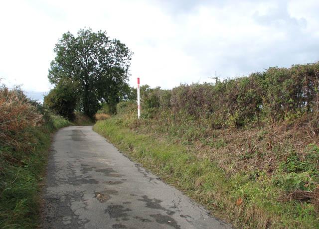 Gas pipeline marker on Easthill Lane