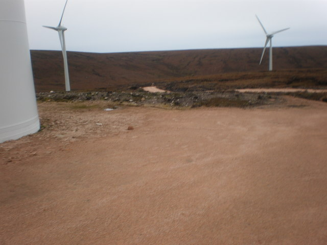 Beginning of new road to new wind turbines