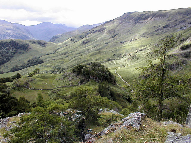 Borrowdale from Castle Crag