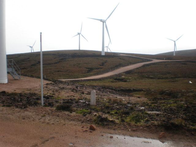 Beinn Tharsuinn Wind turbines
