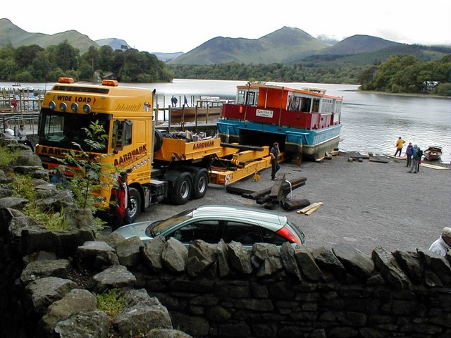 Arrival of the new boat, Keswick