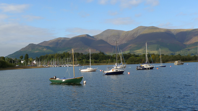 Sailing Boats in Derwentwater off Nichol End