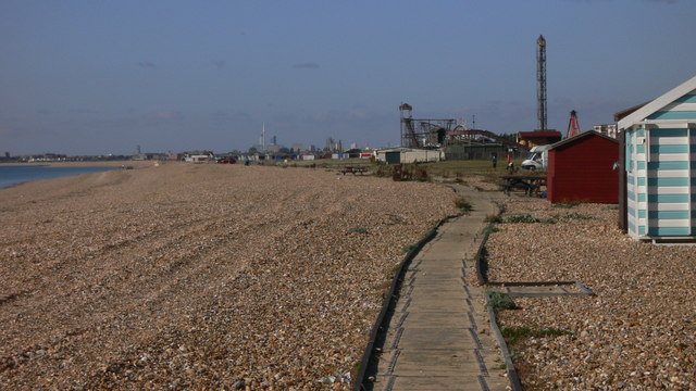 Walkway on beach at South Hayling