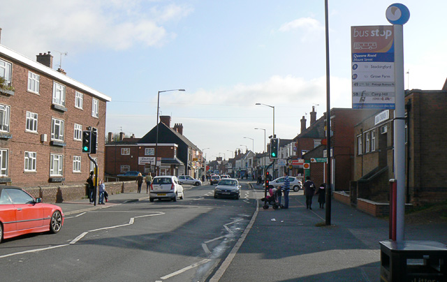 Queen's Road, Nuneaton, looking to town centre