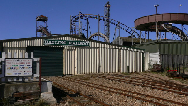 The engine shed for Hayling Railway