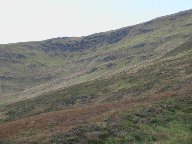 Upper wall of Glas Choire