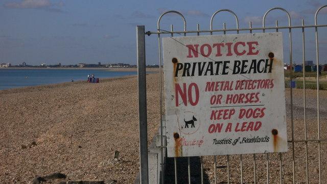 Notice on Hayling Beach