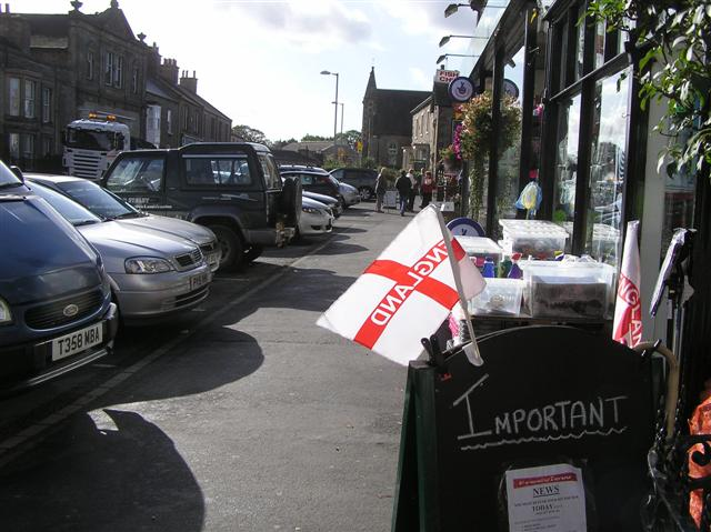 Flags for sale, Kirkby Stephen